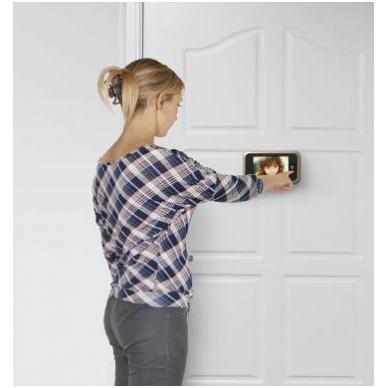 LCD durų ekranas 135x85x24,5 mm, durų akutė D.14-22 mm, 4xAA elementai 2