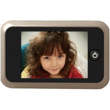 LCD durų ekranas 135x85x24,5 mm, durų akutė D.14-22 mm, 4xAA elementai