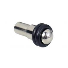 Lentynos laikiklis su 2 gumos žiedais D. 5 mm, nikelis