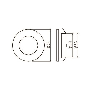 LED BARRI  230V be transformatoriaus., 3x1,5W 2