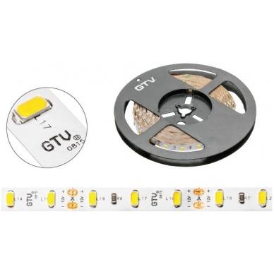 LED juosta 300 diodų, 12V 80W/16W šiltai balta, 5m