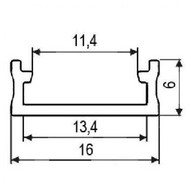LED profilis prisukamas LL-01, aliuminis 2
