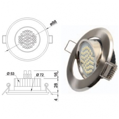 LED SANTIAGO 45 led-ų, 230V 2