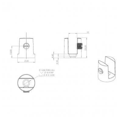 Lentynos laik.cilindr.D.17mm 3