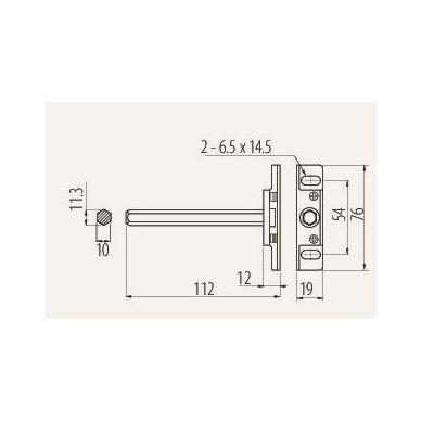 Lentynos laikiklis reguliuojamas 108mm, plienas ch. 2