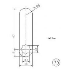 Liežuvėlis spynelei Nr.75, 47mm