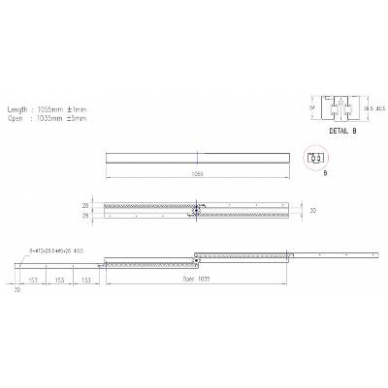 Medinis sinchroninis stalo ištr.mechanizmas 1055/1035/2282 3
