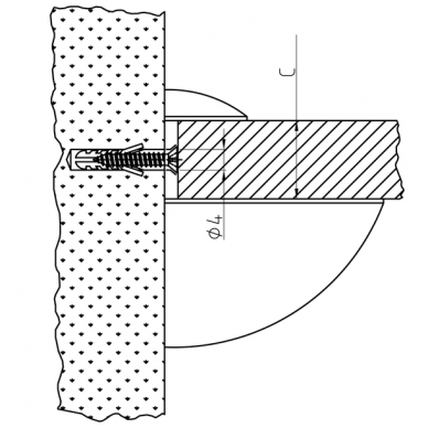 Modernus lentynos laikiklis ovalus (vidutinis) 3