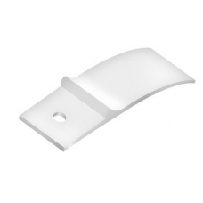 Plastmasinis stabdis bėgeliams 55x16x5 mm, baltas