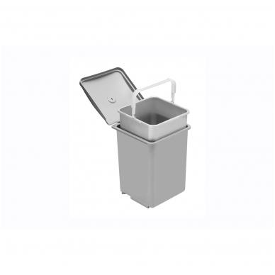 Plast.šiukšliadėžė QUADRA 400 mm, 13 l