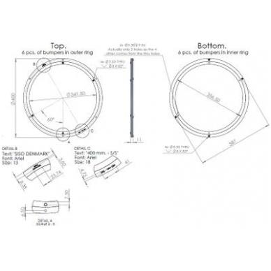 Posūkio mechanizmas D.400x12 mm, aliuminis, max 130 kg 3