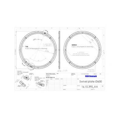 Posūkio mechanizmas D.600x12 mm, aliuminis, apkrova 190 kg 3