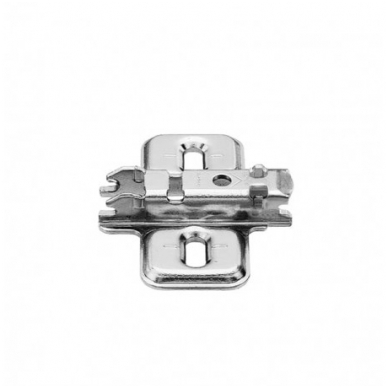 Pusinis BLUM lankstas su integruotu slopintuvu+ CLIP plokštelė 0 mm 3