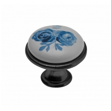 Rankenėlė su porcelianu,send.sidabras/ mėlyna rožė