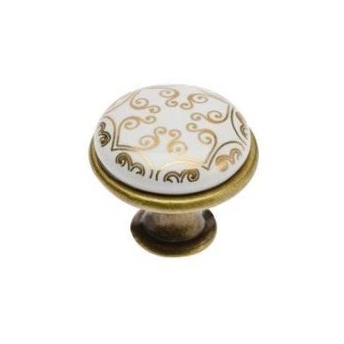Rankenėlė 1 ašies porcelianinė, ruda gėlytė