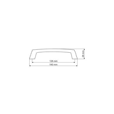 Rankenėlė 1406,L-128mm,mat.nikelis 2