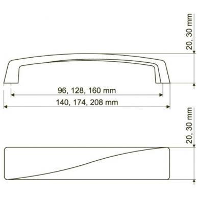 Rankenėlė 4806 L-128,mat.nikelis 2