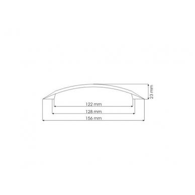 Rankenėlė 5404,L-128mm,chromas 2