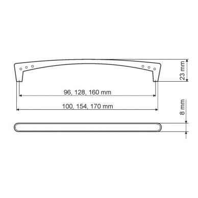 Rankenėlė 9808,L-128mm,mat.chromas 2