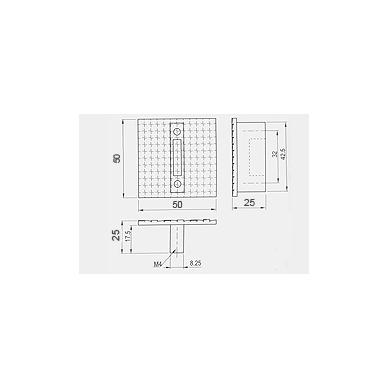 Rankenėlė ETNA 50x50mm, cc.32 mm, chromas 2