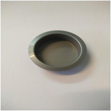 Rankenėlė įleidžiama D.35 mm H.11 mm, mat.nikelis,plastmasinė
