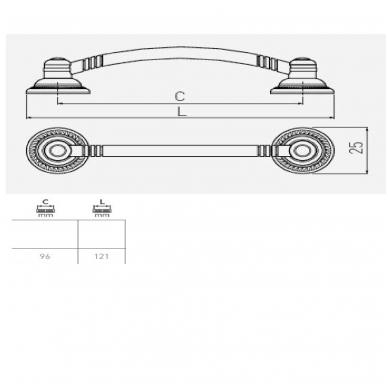 Rankenėlė L-96mm send. auksas 2