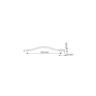 Rankenėlė UU 5308 96 mm, mat.chromas/skaidr.plast. 2