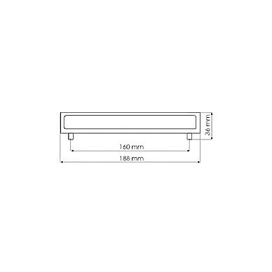 Rankenėlė UU6608 L-160 mm, mat.chromas 2