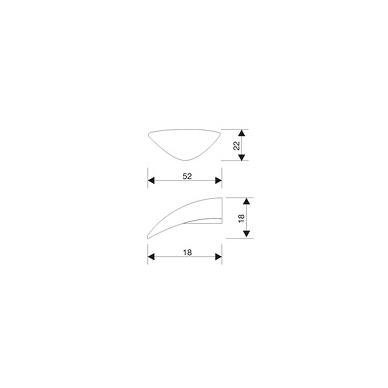 Rankenėlė X-2729, matinis nikelis 2