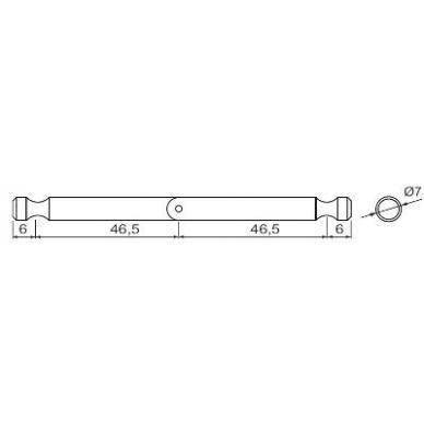 Šarnyrinė sąvarža 2xL-46 mm KD sistemai, cinkas 2