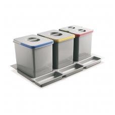 Šiukšliadėžė į stalčių Multino 800 2x15l+2x7l