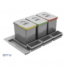 Šiukšliadėžė į stalčių Multino 900 3x15l+3x7l