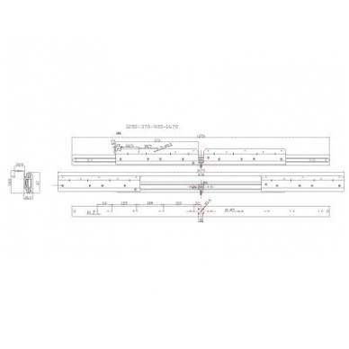 Sinchr. stalo ištraukimo mechanizmas 1250/907/1760 su stabdžiu 2