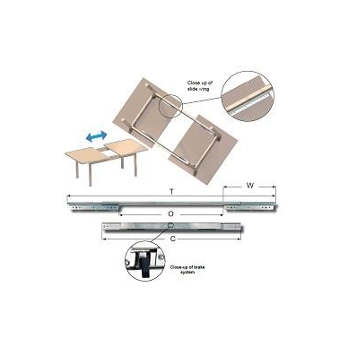 Sinchr. stalo ištraukimo mechanizmas 1250/907/1760 su stabdžiu