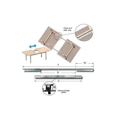 """Sinchroninis stalo mechanizmas \B\"""" su stabdžiu 610/407/950 mm"""""""
