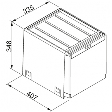 Šiukšliadėžė  FRANKE Cube 40 automat. atidarymas 2