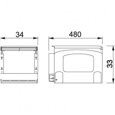 Šiukšliadėžė  FRANKE Cube 41 automat. atidarymas 2