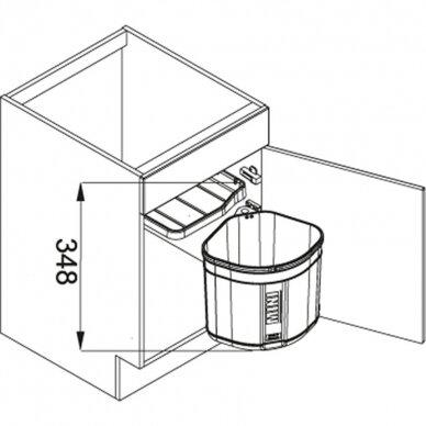 Šiukšliadėžė FRANKE Sorter Mini 17.5l 2