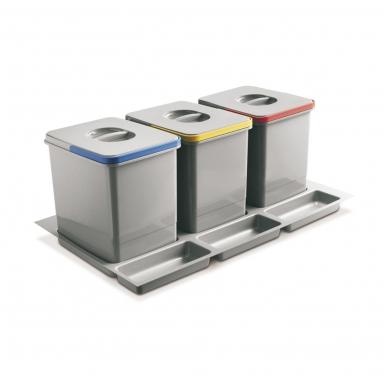 Šiukšliadėžė į stalčių Multino 800 3x15l