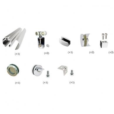 """Slenkanti durų sistema dušo kabinai \""""COSMOS\"""" 2,1 m, pol. aliuminis 2"""