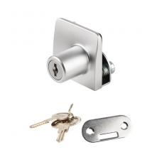 Spynelė dviguboms stiklo durelėms SQUARE vienodu raktu, aliuminis