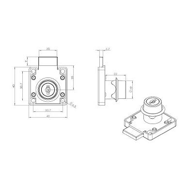 Spynelė CL-X850 d.19x22 mm 2
