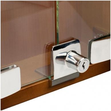 Spynelė dviguboms stiklo durelėms SQUARE vienodu raktu, aliuminis 4