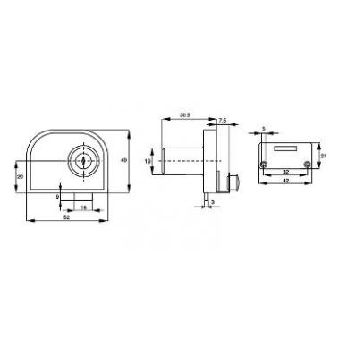 Spynelė dviguboms stiklo durims X-917, chromas su skirtingais raktel. 2