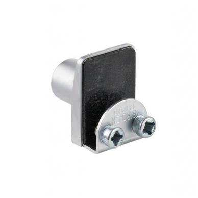 Spynelė vienguboms stiklo durelėms SQUARE vienodu raktu, aliuminis 2