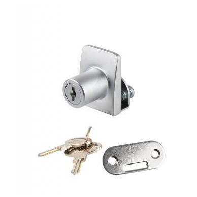 Spynelė vienguboms stiklo durelėms SQUARE vienodu raktu, aliuminis