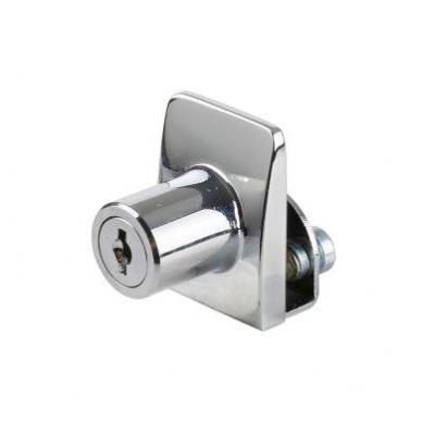 Spynelė vienguboms stiklo durelėms SQUARE vienodu raktu, chromas 2