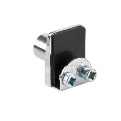 Spynelė vienguboms stiklo durelėms SQUARE vienodu raktu, chromas 3