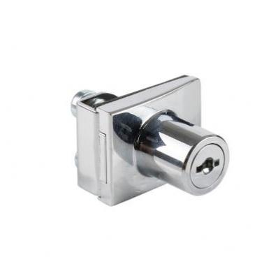 Spynelė vienguboms stiklo durelėms SQUARE vienodu raktu, chromas 5
