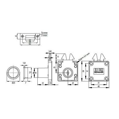 Spynelė X855 D.19x22 mm nikelis 2